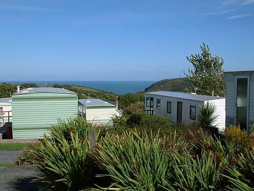 Sea view caravans on the Welsh coast