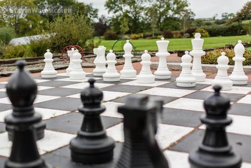 a view of the garden chessboard