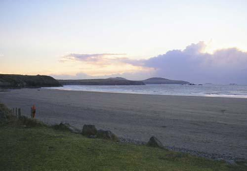 whitesands beach in the evening