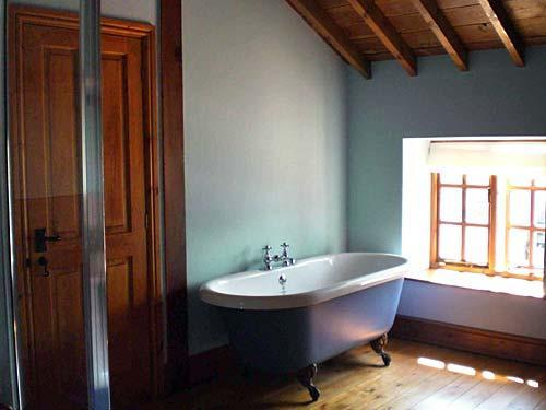 rolltop bath in Summer room
