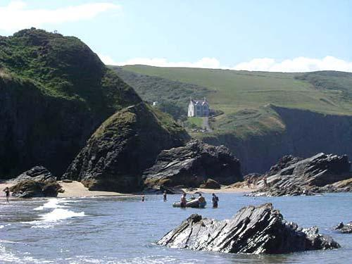 View from Llangrannog beach