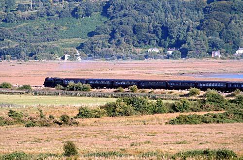 cambrian coast railway steam train