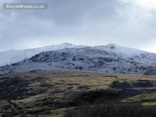 snowdon winter view