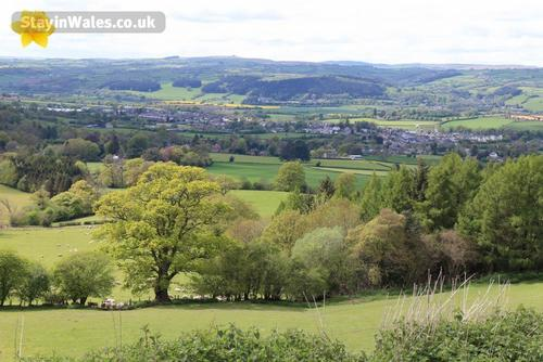 distant view of hay-on-wye