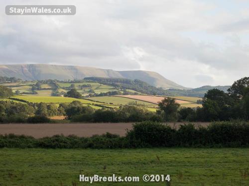 black mountains near hay on wye