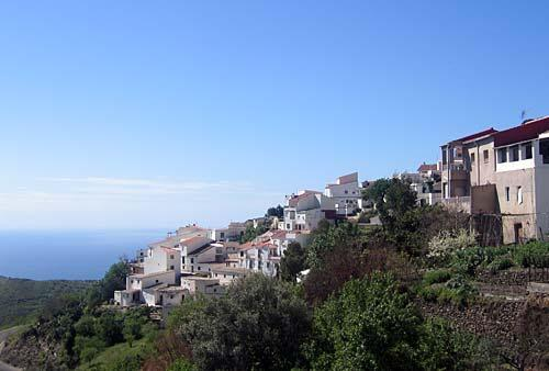 view from casa ana across village to sea