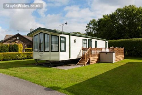 holiday caravan with terrace