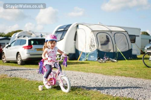 camping at grondre in clynderwen