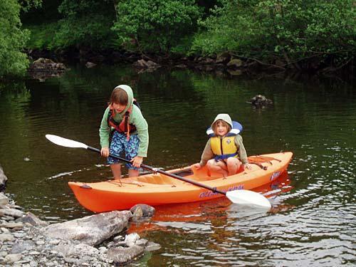 River Lledr canoeing