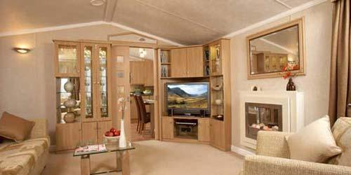 Luxury caravn living room