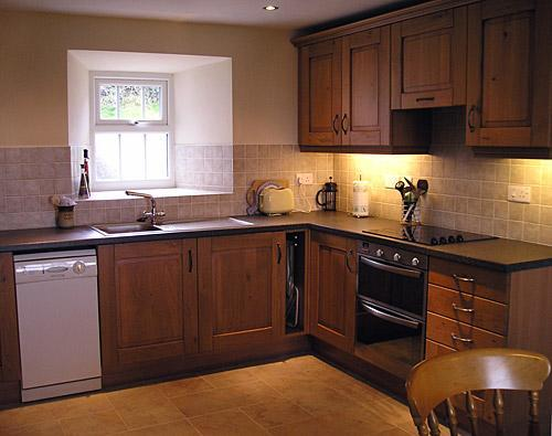 Kitchen at Bronllwyd Fawr holiday cottage in Abers
