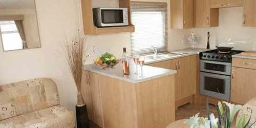 Gold Caravan interior