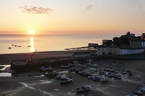 Tenby Harbour sunrise