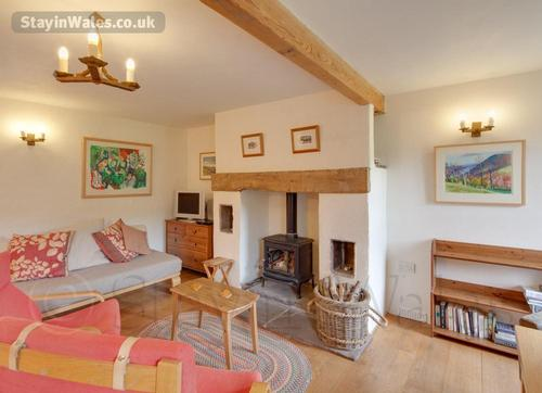 living area with woodburner