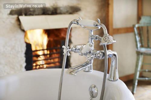 fireside rolltop bath
