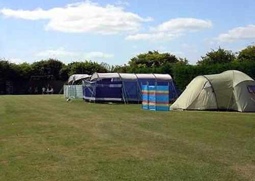 Campsite for tents