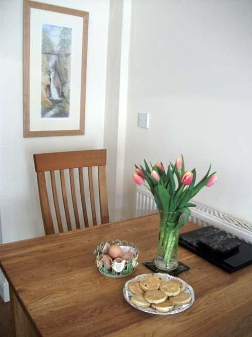 fresh farm eggs, flowers and welsh cakes
