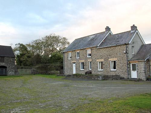 farmhouse and yard