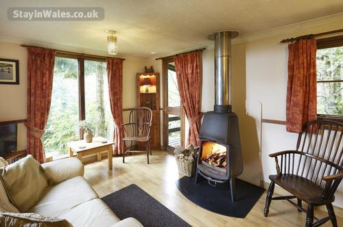 cosy fire with stunning views