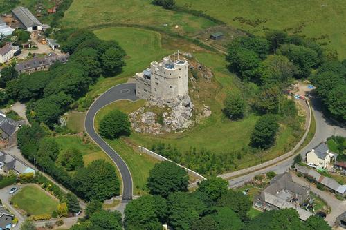 Roch Castle, Aerial View, Pembrokeshire