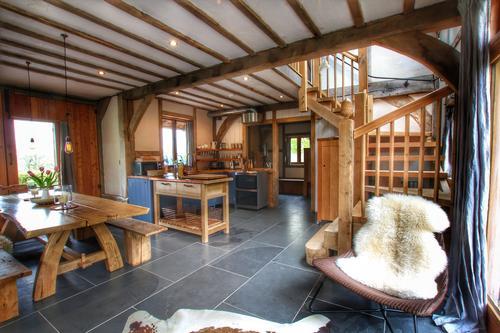 Hand-built interiors, full of natural materials