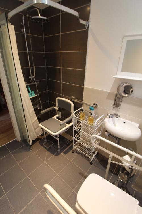 Ground floor accessible shower
