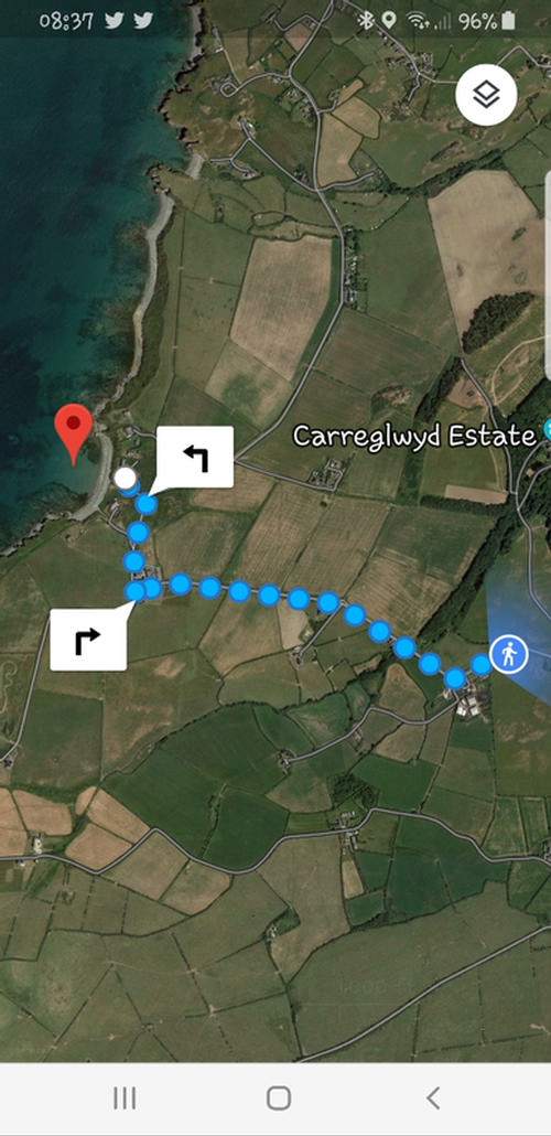 15 minute walk