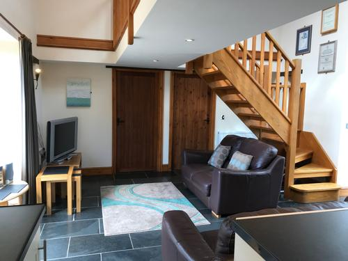 Open plan living in the Granary