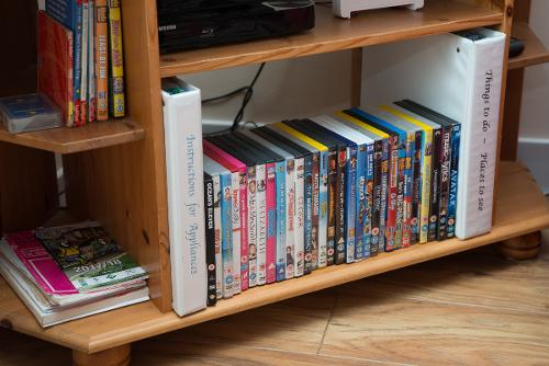 a selection of dvds if the weather is inclement