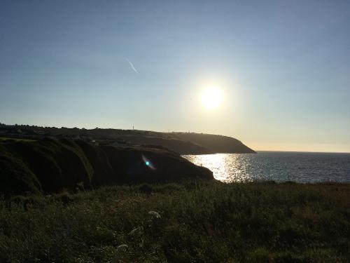 Sunset from the coastal path