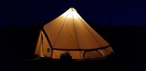 Gwen The Bell Tent by Night