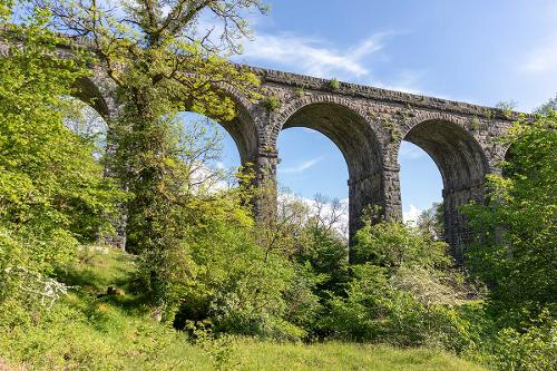 Pontsarn viaduct, part of the Taff Trail