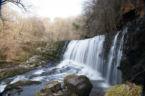 Sgwd Isaf Clun Gwyn waterfall near Ystradfellte