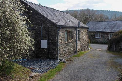 Cottage on left