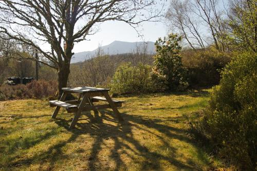 Picnic Table with Moel Siabod in the Background