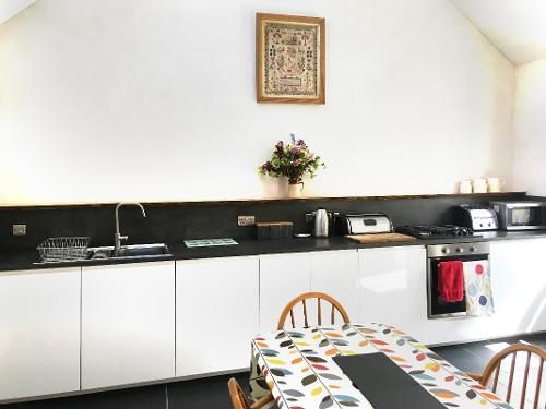 Galley-style kitchen