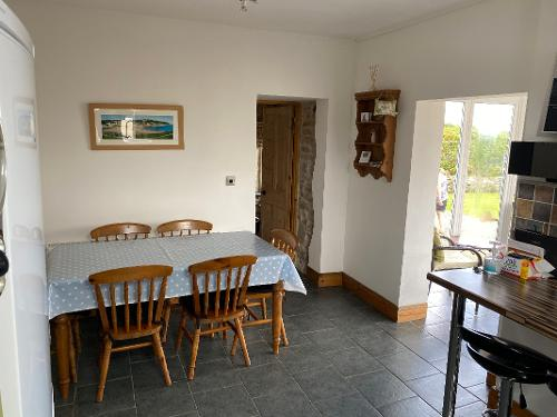 The kitchen diner with conservatory