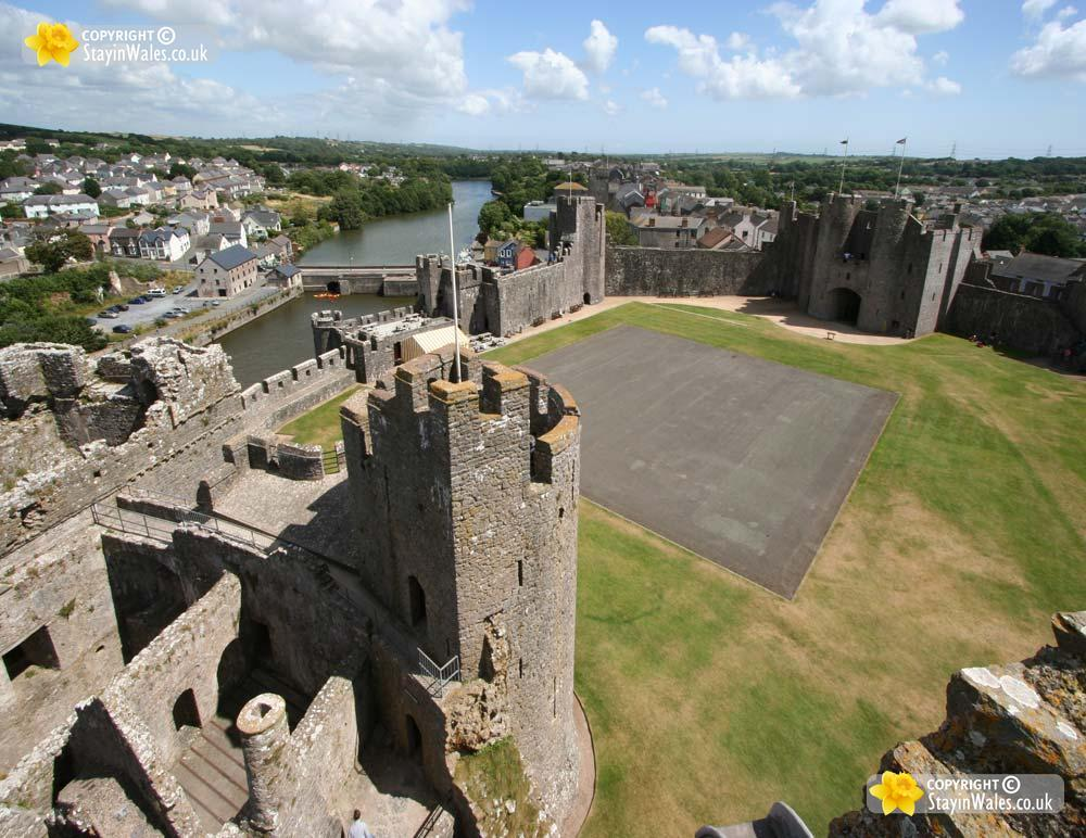 View from the Great Tower, Pembroke Castle