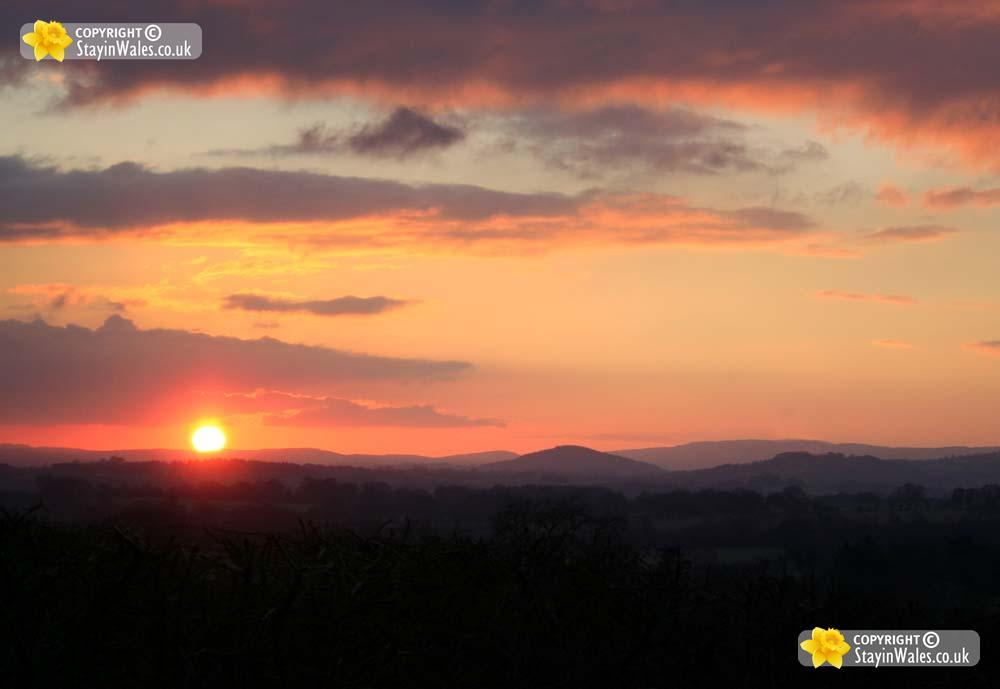 Mid Wales sunset
