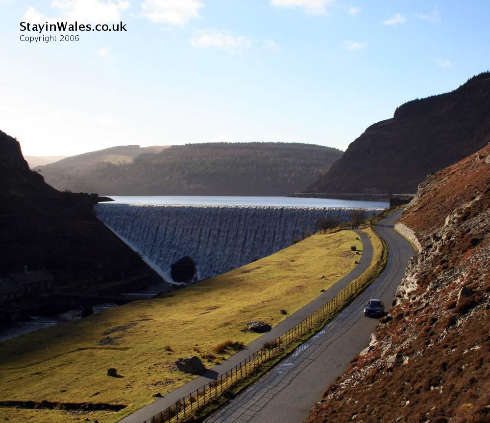 Caban Coch dam and reservoir