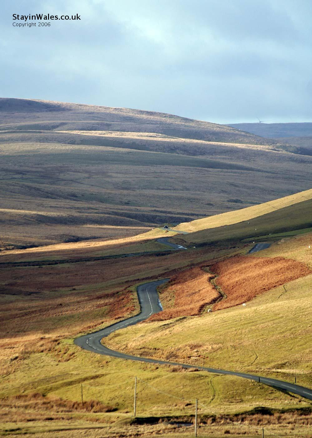 Wales mountain road