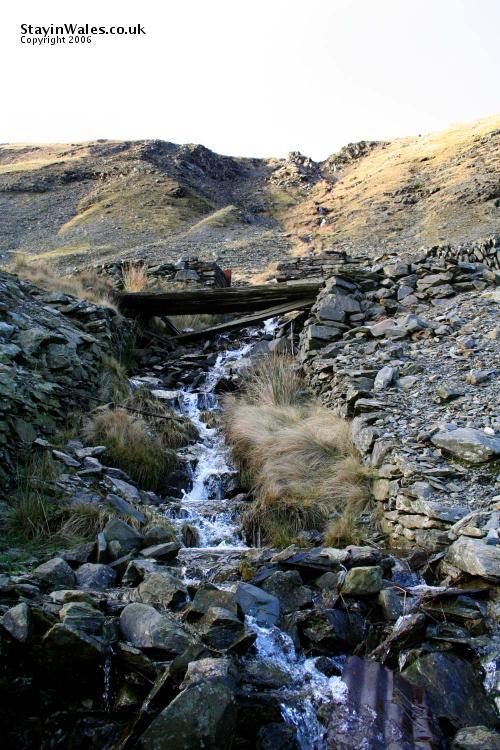Mountain stream at Cwmystwyth
