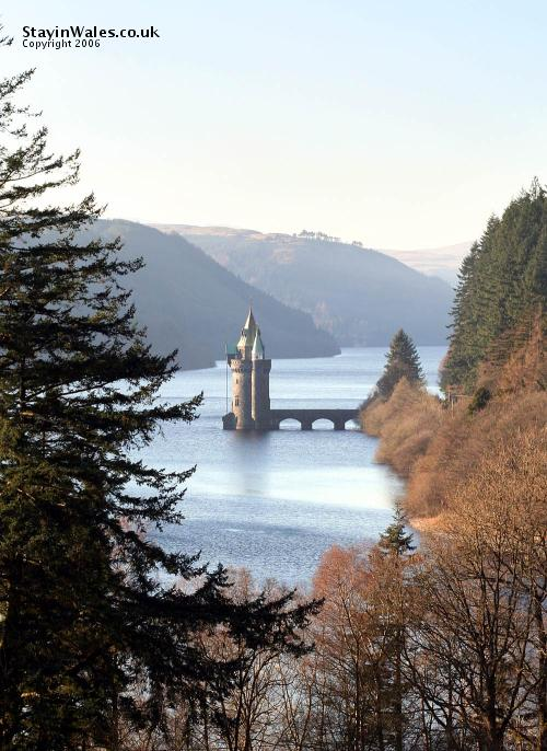 View from the Lake Vyrnwy Hotel