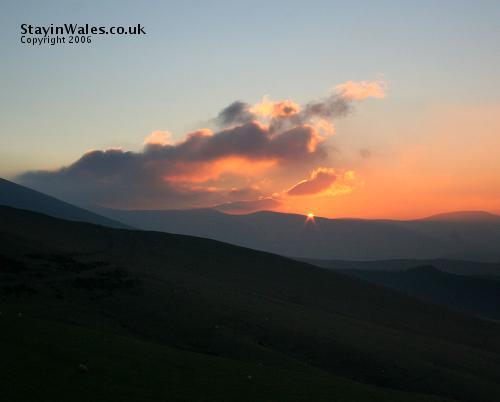 Plynlimon sunset