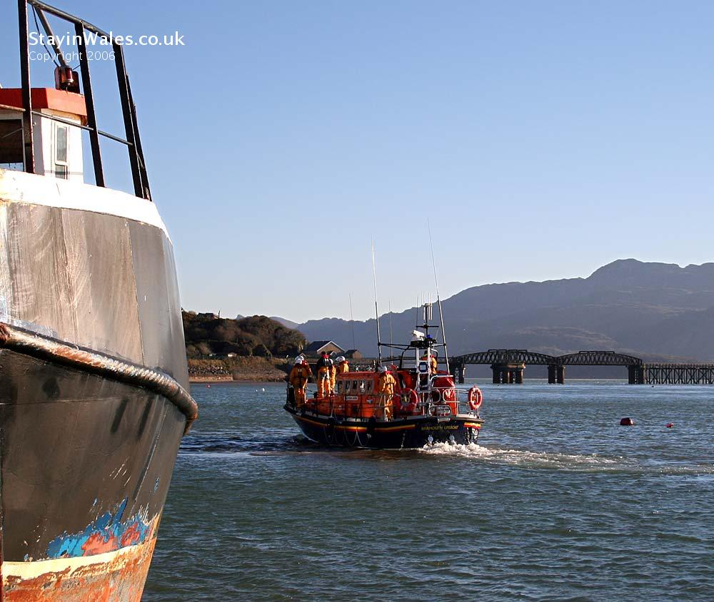 Lifeboat at Barmouth, Wales