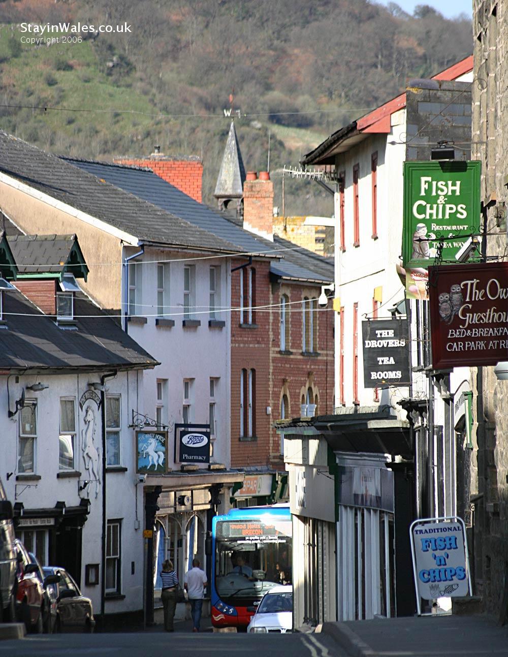 High Street Builth Wells