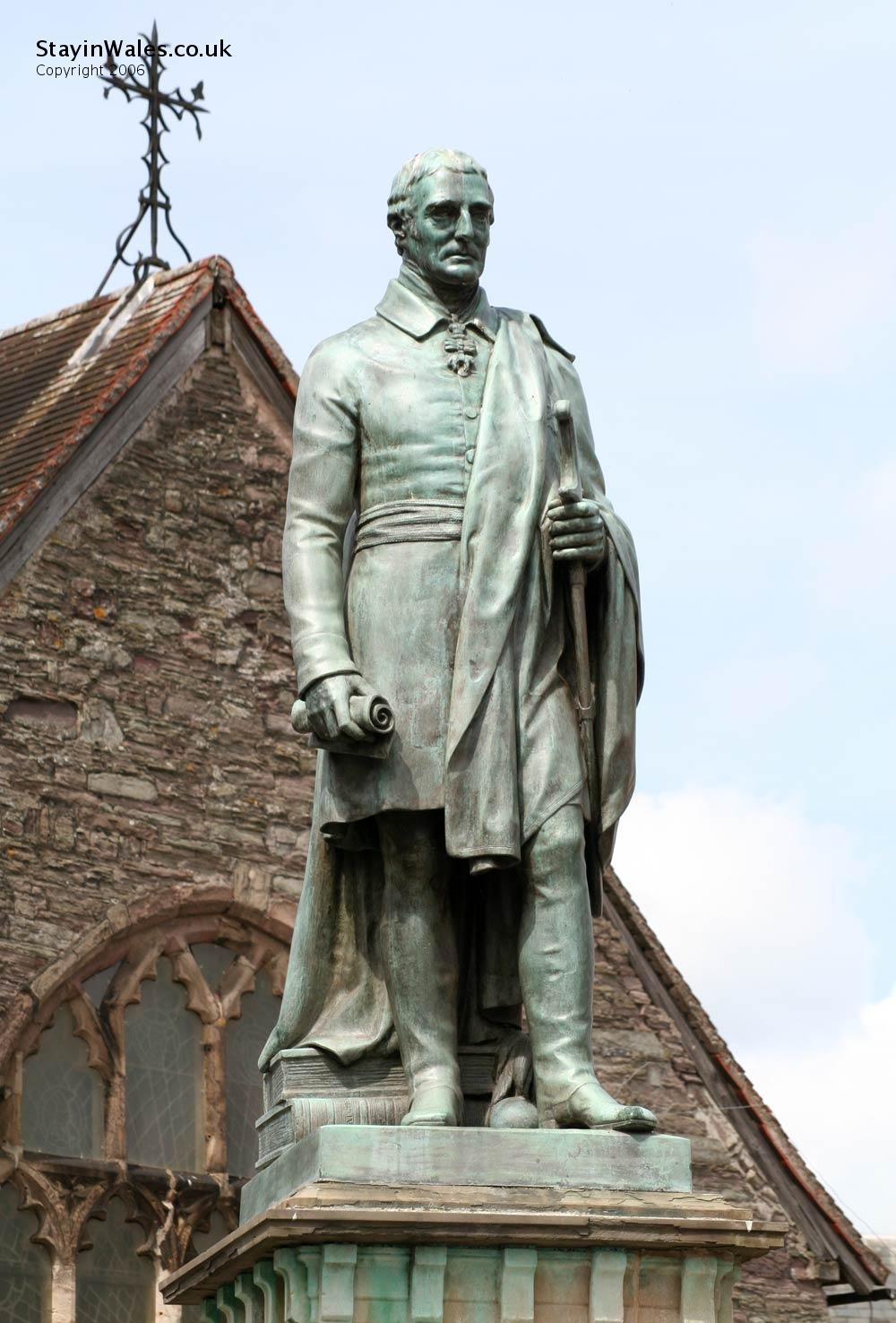 Wellington statue Brecon