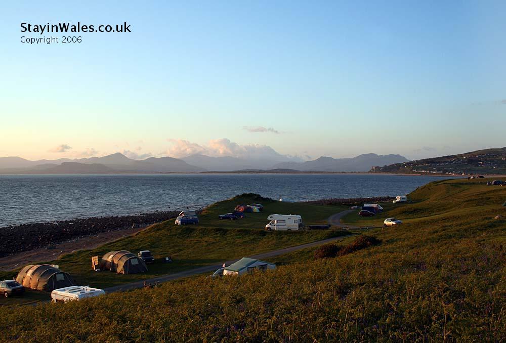 Shell Island view of Snowdonia
