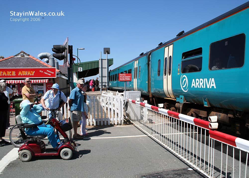 Train at Barmouth Station