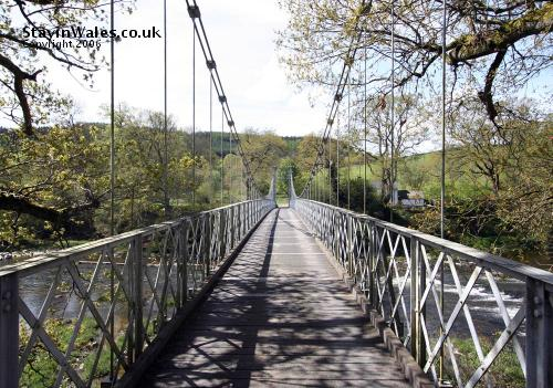 suspension bridge at Llanstephan